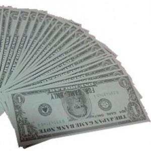 ゲーム用ドル札(仮想紙幣)1$