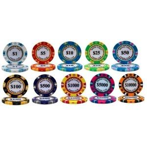 モンテカルロ・ポーカーチップサンプル10枚セット