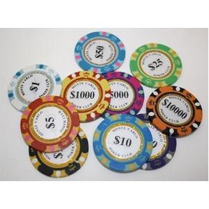 モンテカルロ・ポーカーチップサンプル10枚セットの紹介画像4