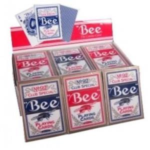 Bee ビー [ポーカーサイズ] 【レッド ・ ブルー】 1ダース<レッド6・ブルー6>