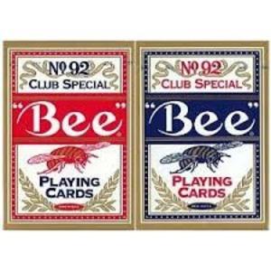 Bee ビー (ポーカーサイズ) 【レッド ・ ブルー】 1ダース<レッド6・ブルー6>