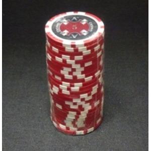 Quattro Assi(クアトロ・アッシー)ポーカーチップ(5)赤 <25枚セット>