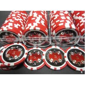Quattro Assi(クアトロ・アッシー)ポーカーチップ100枚セット<レッド(5)>