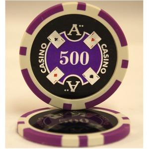 Quattro Assi(クアトロ・アッシー)ポーカーチップ100枚セット<パール(500)>