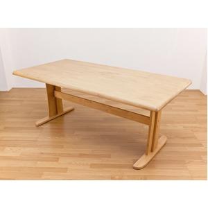 アーク ダイニングテーブル 180cm幅 ナチュラル (2ケ口) - 拡大画像