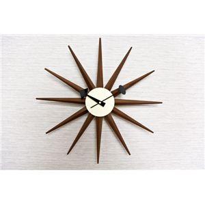 ジョージ・ネルソン サンバーストクロック ウォールナット 掛け時計 - 拡大画像