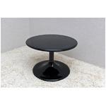 ラウンドローテーブル 【丸型/直径60cm】 強化プラスチック製 ブラック(黒)