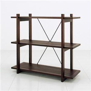 バンブーシェルフ(オープンラック) 【3段】 木製(天然木) 幅87cm×奥行35cm アジアンテイストの詳細を見る