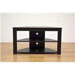 【訳あり・在庫処分】コーナーテレビ台/テレビボード 【幅80cm】 ウォールナット 『Wega』 コード穴付き