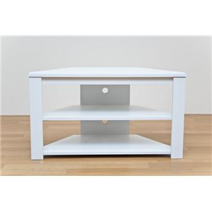 コーナーテレビ台/テレビボード 【幅80cm/20型〜32型対応】 ホワイト(白) 『Wega』 コード穴付き