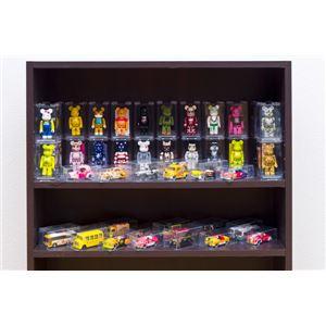 コミックラック(本棚) 【ロータイプ】 木製 幅60cm×奥行16.5cm 揺れ止め/可動棚付き ダークブラウン の画像