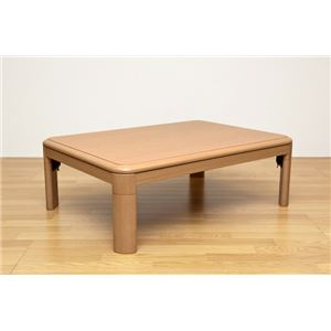 折りたたみこたつテーブル/折れ脚テーブル 本体 【長方形/105cm×75cm】 ナチュラル 木製/天然木 高さ調節可 継脚式 UV塗装 - 拡大画像