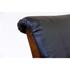 ダイニングチェア(回転椅子/リビングチェア) 木製 張地:合成皮革/合皮 肘付き Coventry ブラウン の画像