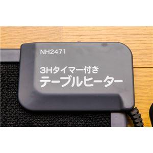 デスクヒーター/暖房器具 【1点】 幅47cm×奥行36cm マグネット/3時間自動オフタイマー付き