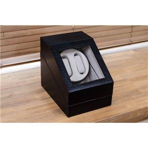 ワインディングマシーン(時計用収納ボックス) ブラック(黒) 【1台】 合成皮革/合皮 マブチモーター使用 【完成品】 h02