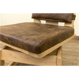 ダイニングチェア/回転椅子 【1脚】 ナチュラル 『AKAGI』 座面:合成皮革(合皮) 木製脚 背もたれクッション脱着可 h03
