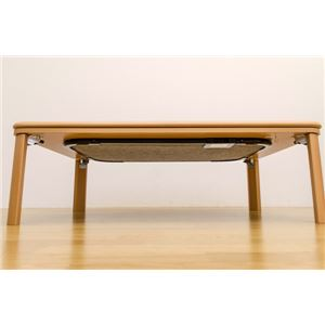 家具調折りたたみフラットヒーターこたつテーブル 本体 【長方形/120cm×80cm】 ブラウン ヒーター着脱可 の画像
