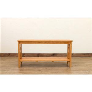 玄関ベンチチェア(腰掛け椅子/シューズラック) 幅80cm ブラウン 『CLOVER』 木製 収納棚付き h03