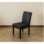 【アウトレット品】 FABダイニングチェア/食卓椅子 【同色2脚入り ブラック】 張地:ファブリック生地