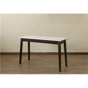 引き出し付きテーブル/パソコンデスク 【幅120cm×奥行45cm】 ホワイトウォッシュ 木脚 『Amelia』