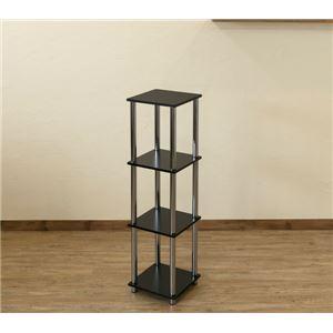 Simple 収納ラック/収納棚 【幅30cm 4段】 ブラック 〔キッチン収納 リビング収納 ディスプレイ家具 什器〕 の画像