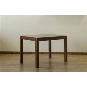 フリーテーブル/センターテーブル 【ブラウン】 幅110cm 重さ18.6kg アジャスター 天然木製脚付き 〔リビング ダイニング〕
