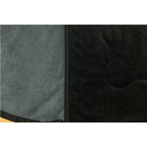 こたつ布団/掛け布団&敷布団セット 【ブラックグレー 長方形】 対応こたつサイズ60cm~90cm 滑り止め加工