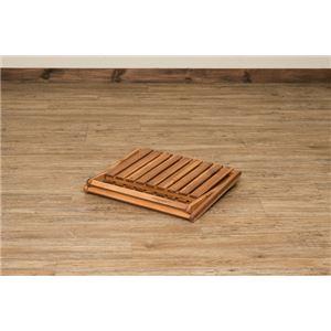 アカシア製 収納ラック/収納棚 【2段】 幅46.5cm 木製 折りたたみ式 高耐久性 防虫効果 【完成品】 〔リビング ダイニング〕