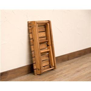 アカシア製 折りたたみテーブル 【幅45cm ブラウン】 耐荷重10kg 木製 コンパクトタイプ 【完成品】 〔リビング ダイニング〕