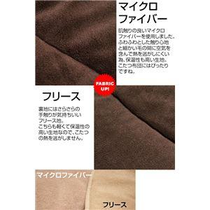 丸型こたつ薄掛け布団100cm φ ブラウン(BR)