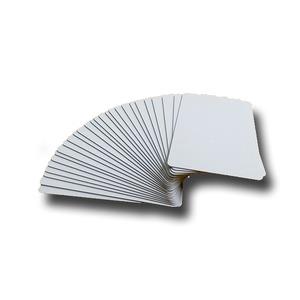 無地プラスチックカード/オフィス用品【100枚セット厚さ0.5mm】薄めクレジットカードサイズ材質:PVC日本製