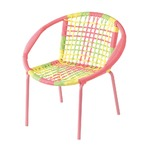 COLORS KID`S ROUND CHAIR PINK MIXカラーキッズラウンドチェア