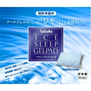 ひんやり気持ちいい 洗える「アイスリープジェルパッド 枕」 - 拡大画像
