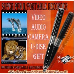 男前Brand SuperPen-II (ペン型スパイカメラ )シルバー&ブラック「銀黒」
