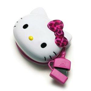 PGA docomo FOMA/SoftBank 3G携帯電話用 サンリオキャラクター ダイカットAC充電器 ハローキティ PG-KTYJU053FO 3個セット - 拡大画像