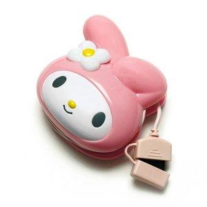 PGA docomo FOMA/SoftBank 3G携帯電話用 サンリオキャラクター ダイカットAC充電器 マイメロディ PG-MYMJU056FO 3個セット - 拡大画像