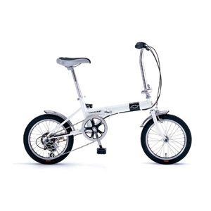 折畳自転車 CHEVROLET(シボレー) FDB16WH 6段ギア付 - 拡大画像