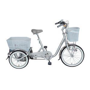 【送料無料】 三輪自転車 スイングチャーリー MG-TRE20SW シルバー