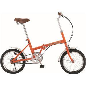 【送料無料】 FIELD CHAMP(フィールドチャンプ) ベーシック FDB16 16インチ折り畳み自転車 オレンジ No.72935