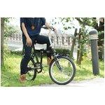 ACTIVE911(アクティブ)20インチ 折り畳み自転車 ノーパンクFDB20 6S ブラック ★SFタイヤ使用【120cmワイヤーロック付 鍵2本】 MG-G206N-BK