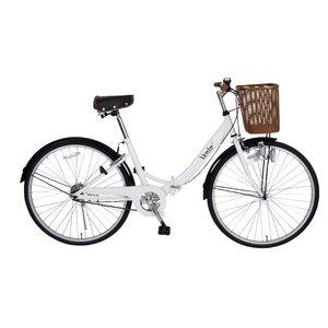 Vent 26インチシティサイクル MG-VT26-WH 折畳自転車 - 拡大画像