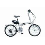 SUISUI 20インチ電動アシスト折畳自転車 ホワイト KH-DCY03 WH