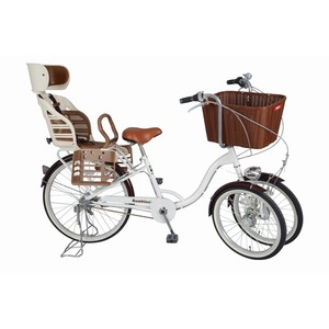Bambina リアチャイルドシート・バスケット付 三輪自転車 MG-CH243RB - 拡大画像