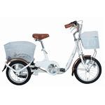 スイング機能 三輪自転車 【ロータイプ ホワイト】 前16インチ/後14インチ スチール 『SWING CHARLIE』 〔買い物〕