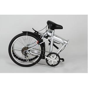 折りたたみ自転車/バイシクル 【シルバー】 ノーパンクタイヤ 20インチ シマノ製6段ギア スチールフレーム 『ACTIVEPLUS911』