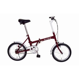 折りたたみ自転車【シングルギア16インチ】クラシックレッドスチール『ClassicMimugo』
