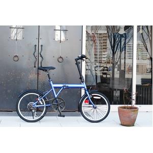 折りたたみ自転車/バイシクル 【ブルー】 ノーパンクタイヤ 20インチ シマノ製6段ギア スチールフレーム 『ACTIVEPLUS911』