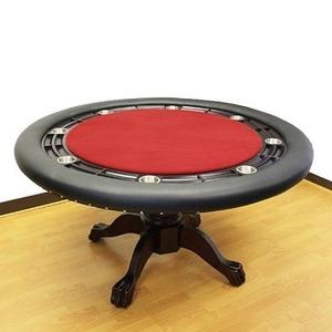 ROUND(ラウンド)ポーカーテーブルII -レッド (ダイニグカバー付き)