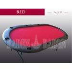 ポーカーテーブル (C10-LIGHT) (2折・軽量タイプ) レッド
