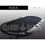 ポーカーテーブル (C10-LIGHT) (2折・軽量タイプ) ブラック